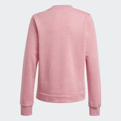 Girls Training Pink Future Icons Logo Crew Sweatshirt