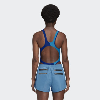 Body Lotta Volkova Tank Cut Swim Bleu Femmes Originals