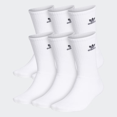 Men's Originals White Trefoil Crew Socks 6 Pairs