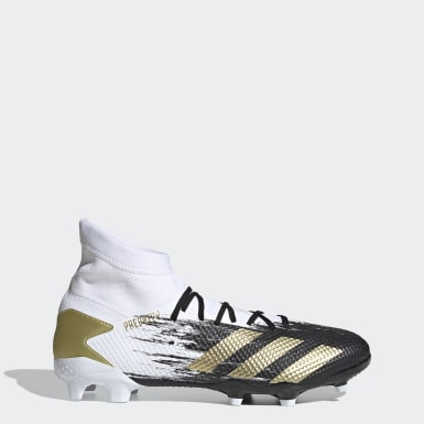 Men Soccer White Predator Mutator 20.3 Firm Ground Cleats
