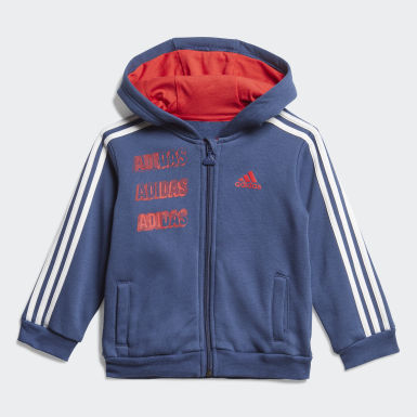 Ensemble bébés Hooded Fleece Jogger Bleu Enfants Training