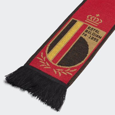 Cachecol com as Cores Principais da Bélgica Vermelho Futebol