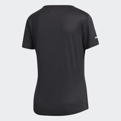 Dames Hardlopen Zwart Run T-shirt