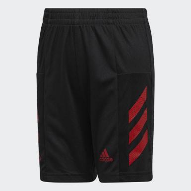 Short Pro Sport3-Stripes noir Adolescents Entraînement