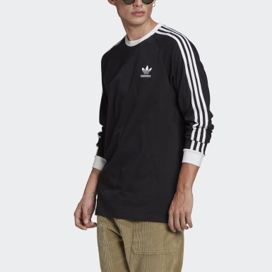 Mænd Originals Sort Adicolor Classics 3-Stripes Long Sleeve trøje