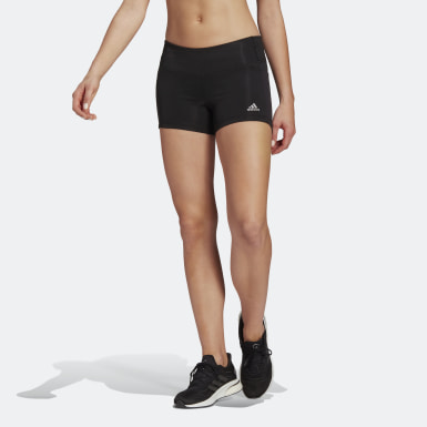 Mallas cortas para correr Own The Run - Corte Medio Negro Mujer Running