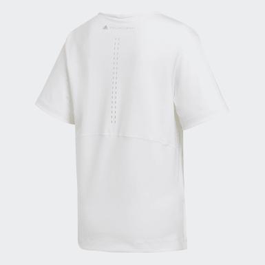 ผู้หญิง adidas by Stella McCartney สีขาว เสื้อยืดทรงหลวม TRUESTRENGTH