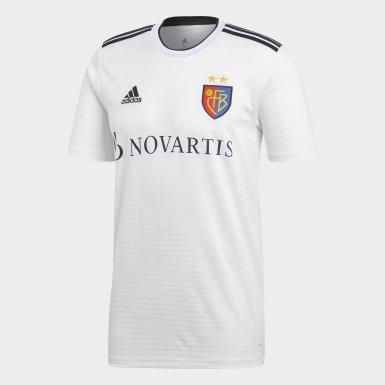 Men Football White FC Basel Away Jersey