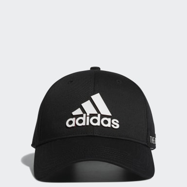 ผู้ชาย กอล์ฟ สีดำ หมวกแก๊ป Tape Motif