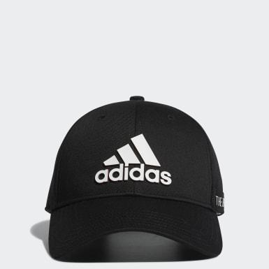 Men Golf Black Tape Motif Cap