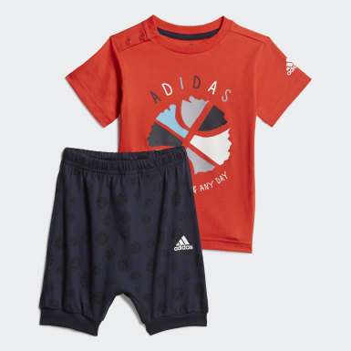 Παιδιά Training Burgundy Infants Summer Set