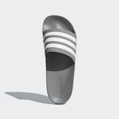 Men's Essentials Grey Adilette Cloudfoam Slides