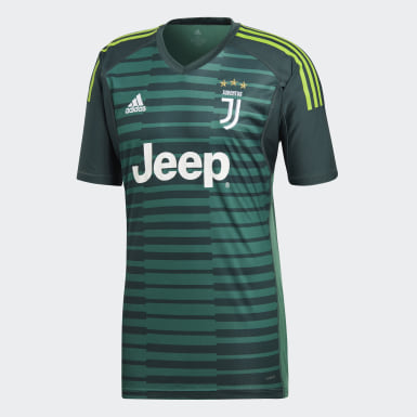 Men Football Green Juventus Goalkeeper Jersey