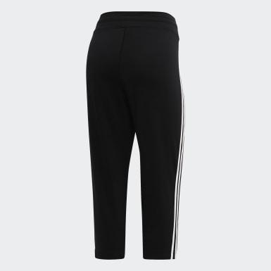Women Training Black Design 2 Move 3-Stripes 3/4 Pants