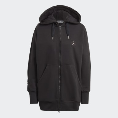 Dam adidas by Stella McCartney Svart Full-Zip Hoodie