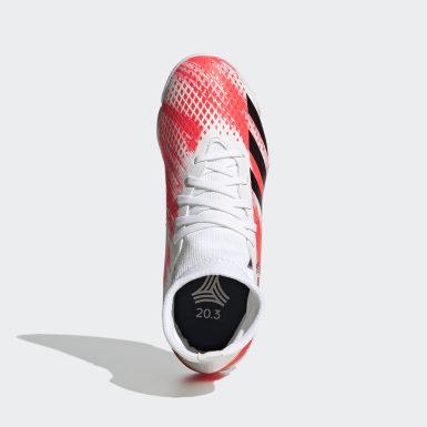 Chuteira Predator 20.3 Futsal Branco Meninos Futebol