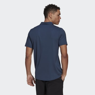 Men Training Blue Primeblue Designed To Move Sport 3-Stripes Polo Shirt