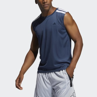 Men Basketball Blue All World Tank Top