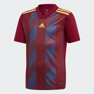 Бордовый Футболка Striped 19