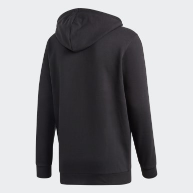 Hoodie 3-Stripes Nero Uomo Originals
