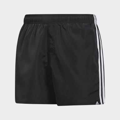Heren Watersport Zwart 3-Stripes Zwemshort
