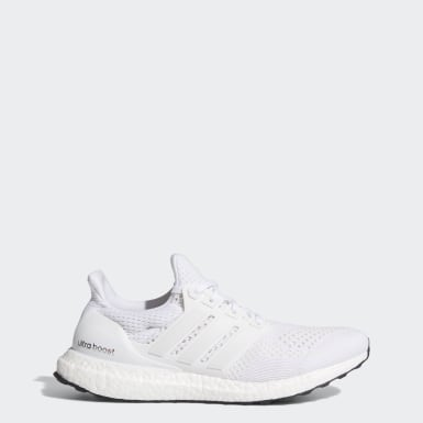 Men Running White Ultra Boost Shoes