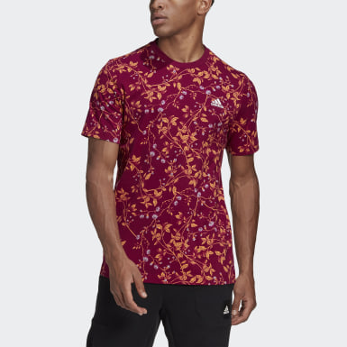Polera Must Haves Estampada Morado Hombre Athletics