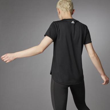 Women Running Black 3 Bar Logo T-Shirt