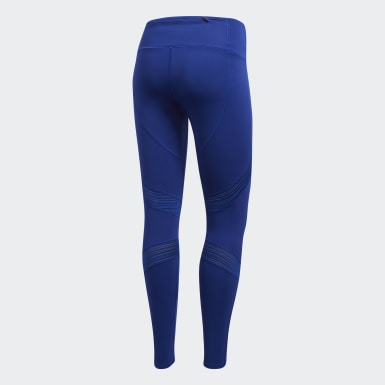 Mallas 7/8 How We Do - Corte Alto Azul Mujer Running