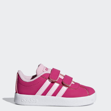 Kids Skateboarding Pink VL Court 2.0 Shoes