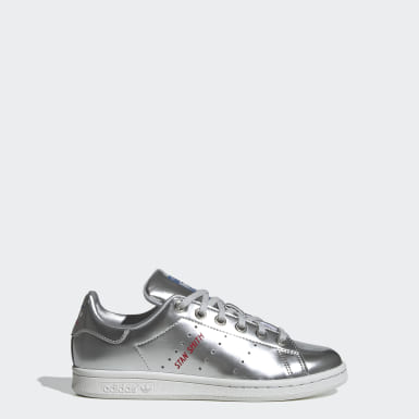 Youth 8-16 Years Originals Silver Stan Smith Shoes