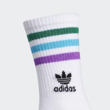 Women's Originals White Pride Roller Crew Socks