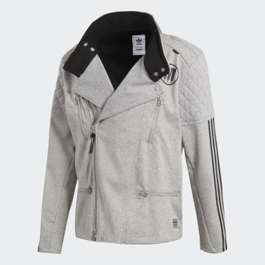 Men Originals Grey NEIGHBORHOOD Riders Track Jacket