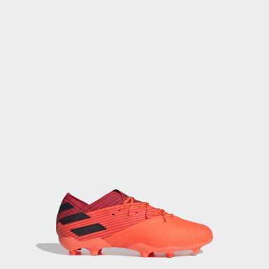 Børn Fodbold Orange Nemeziz 19.1 Firm Ground støvler