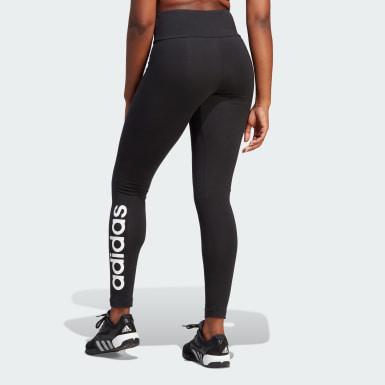 Leggings Essentials High-Waisted Logo Nero Donna Athletics