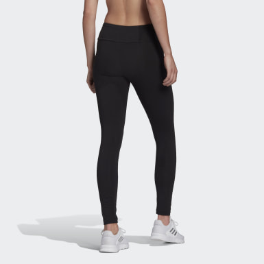 Mallas Essentials High-Waisted Logo Negro Mujer Athletics