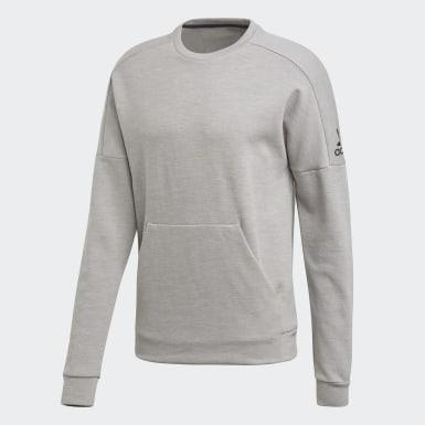 Men Athletics Grey ID Stadium Crewneck Sweatshirt