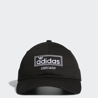 Men's Originals Black City Relaxed Strap-Back Hat