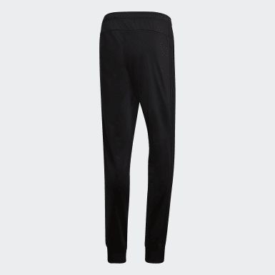 Men's Essentials Black Essentials 3-Stripes Tapered Tricot Pants