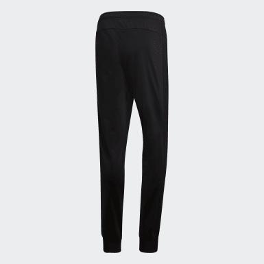 Pantalon Essentials 3-Stripes Tapered Tricot noir Hommes Essentials