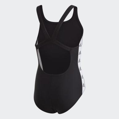 Mädchen Schwimmen Girls Tapered Badeanzug Schwarz