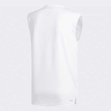 Men Basketball White Pro Madness Tank Top