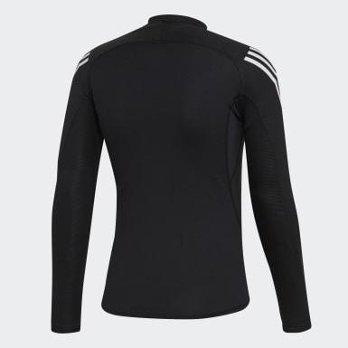 Muži HIIT čierna Tričko Alphaskin Sport+ 3-Stripes