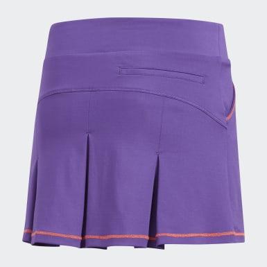 Girls Golf Purple Solid Pleat Skort