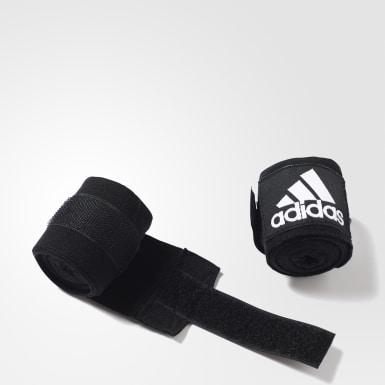 Boxen Boxing Crêpe Bandage Schwarz