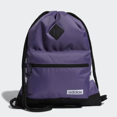 Training Purple Classic 3-Stripes Sackpack