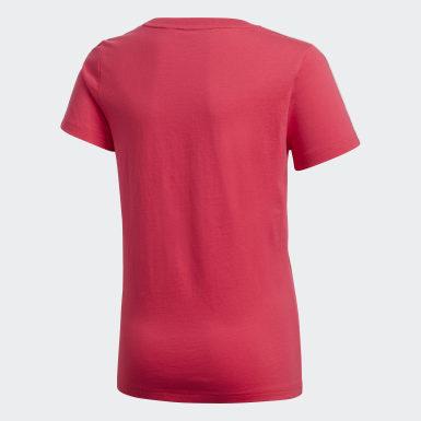 Dívky Trénink růžová Tričko Gym