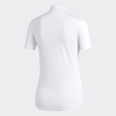 Frauen Golf Microdot Poloshirt Weiß
