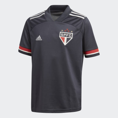Camisa 3 São Paulo FC 20/21 Cinza Meninos Futebol