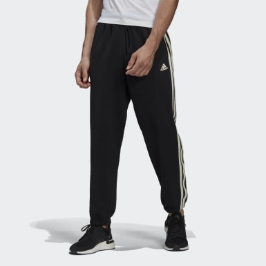 Heren Athletics Zwart Winter 3-Stripes Broek